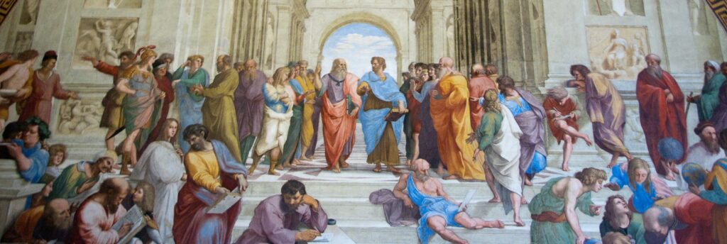 Detail of Raphael's The School of Athens